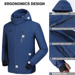 Men's Waterproof Windproof Ski Parka Jacket - CAMEL CROWN