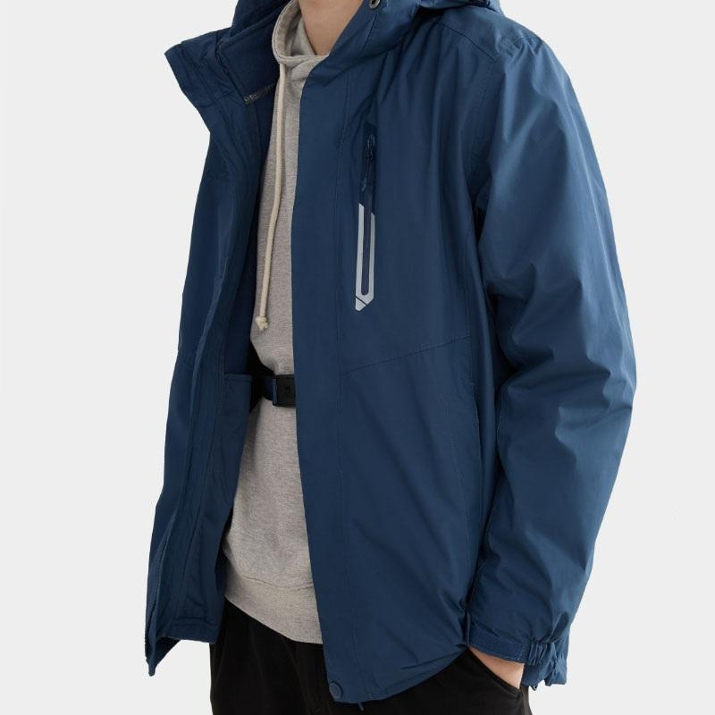 Men 3 in 1 Breathable Water Repellent Jacket - CAMEL CROWN