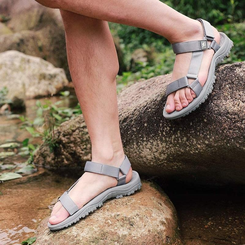 Men's Hiking Sport Sandals Non-slip Arch Support Comfortable Water Sandals - CAMEL