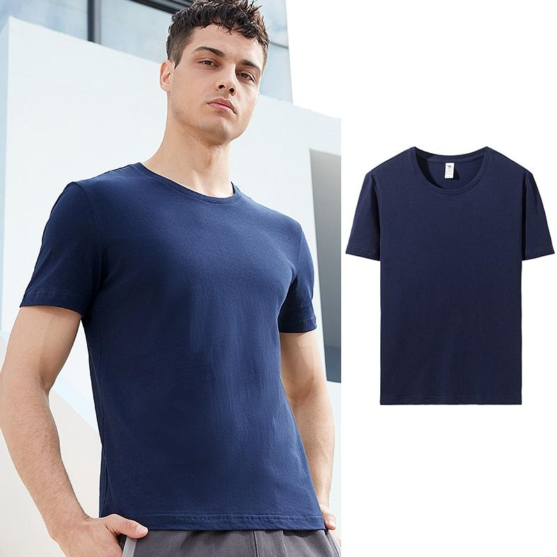 Men's Slim Fit Pure Cotton Breathable T-shirt Short Sleeve