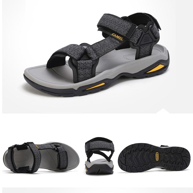 Men's Water-Resistant Beach Sandals For Summer - CAMEL