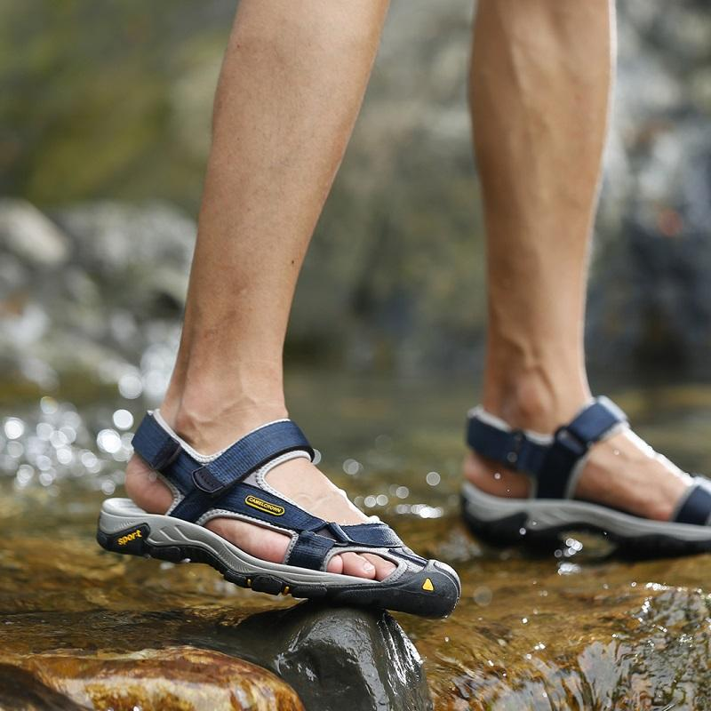 Men's Waterproof Closed Toe Hiking Sandals - CAMEL
