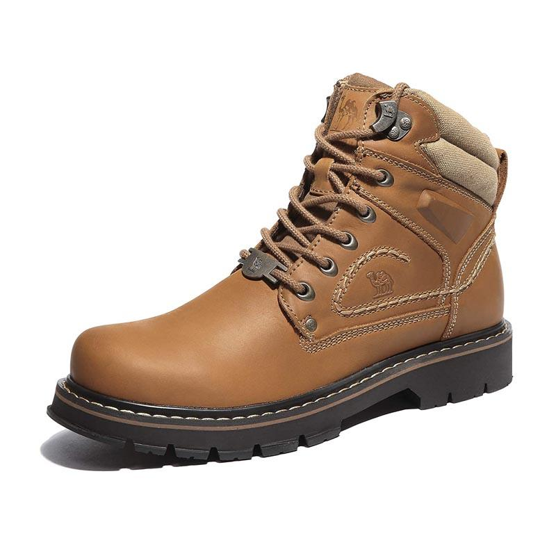 Leather Work Boots Safety Shoes – CAMEL