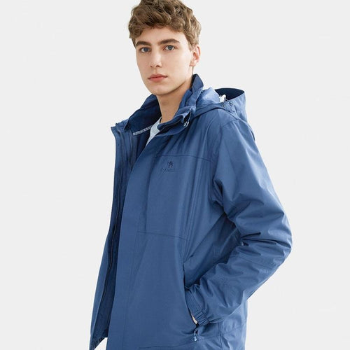 Men's 3 in 1 Waterproof Windproof Jacket - CAMEL