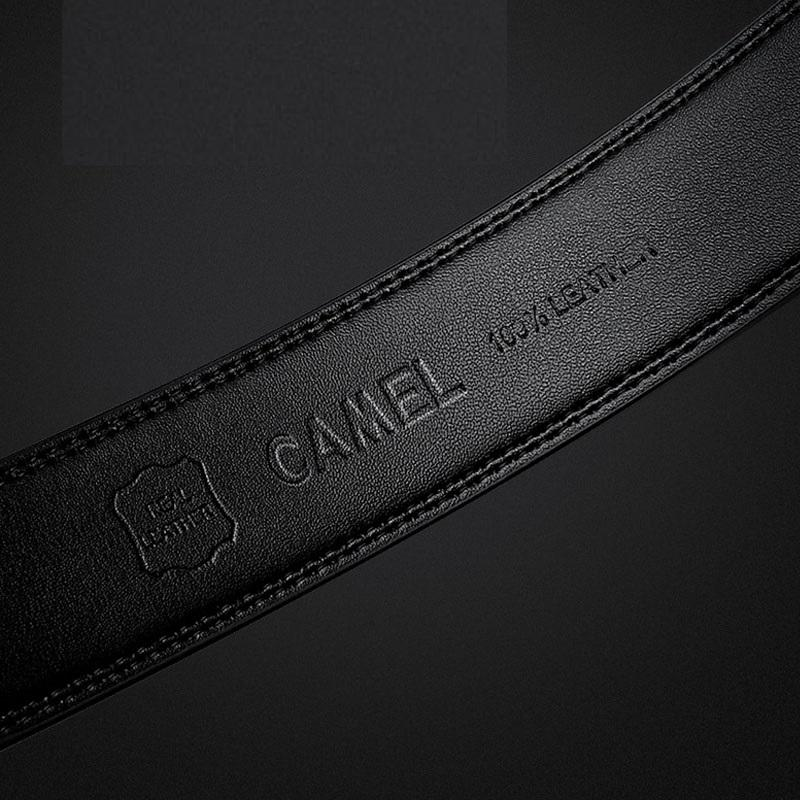Men's Leather Belt - CAMEL