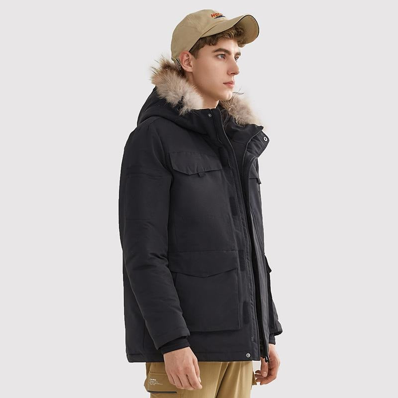 Men's Fashion Duck Down Warm Jacket - CAMEL