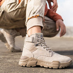 Men's High Top Hiking Work Boots for Outdoor - CAMEL