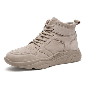 Men's High Top Safety Work Boots - CAMEL