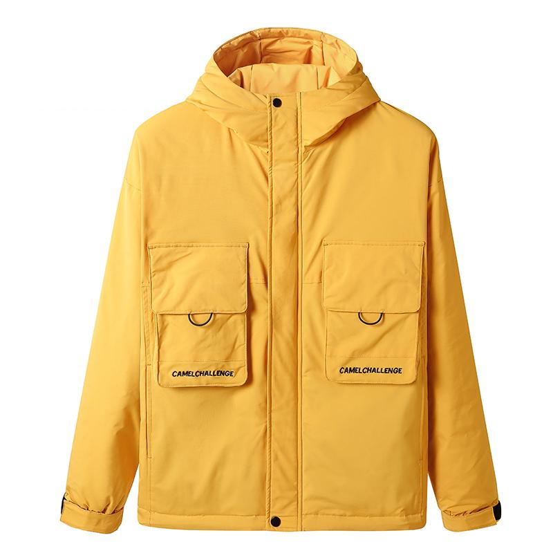 Men's Windproof Parka Hooded Jacket - CAMEL