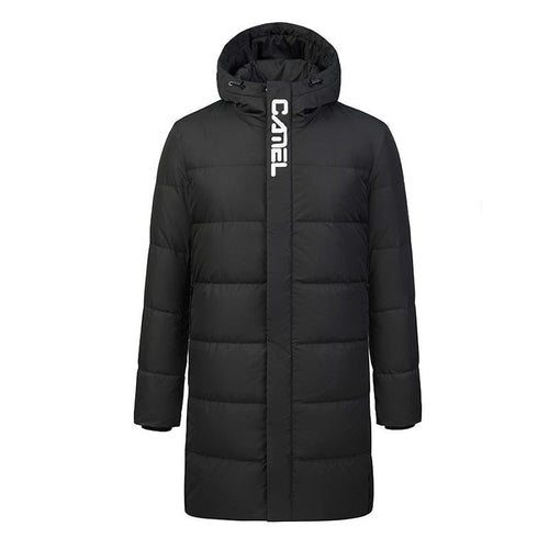 Men's Long Duck Down Jacket - CAMEL