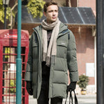 Men's Long Warm Down Jacket Parka For Winter - CAMEL