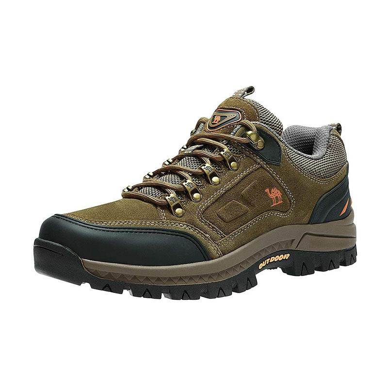 Men's Low-Cut Breathable Hiking Boots - CAMEL