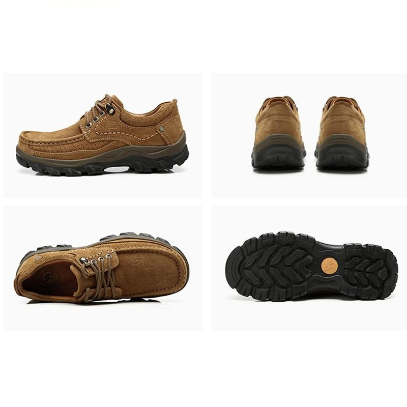 Men's Retro Breathable Casual Walking Shoes - CAMEL