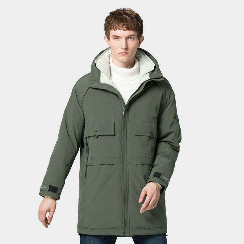Men's Thermal Windproof Jacket Parka for Winter Outdoor - CAMEL