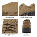 Mens Loafer Slip-on Shoes Casual Leather Walking Shoes - CAMEL CROWN