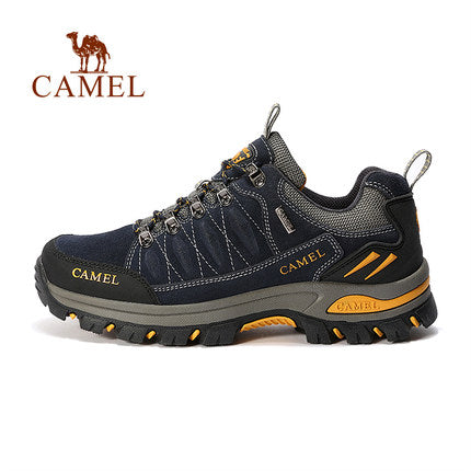 Men's outdoor sports hiking shoes non-slip outdoor shoes low-cut leather travel hiking shoes autumn and winter