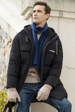 Men's Long Warm Down Jacket Parka For Winter