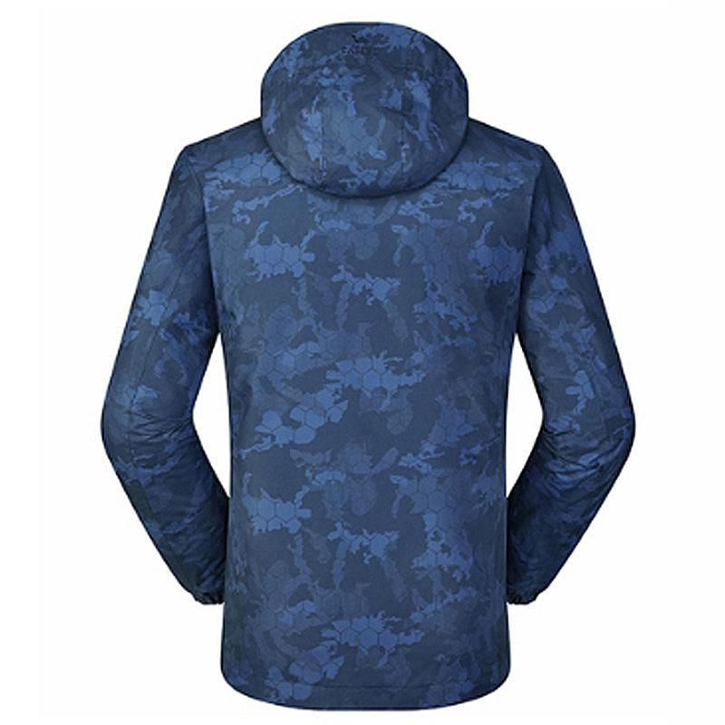 Men Camo Print Waterproof Jacket - CAMEL CROWN