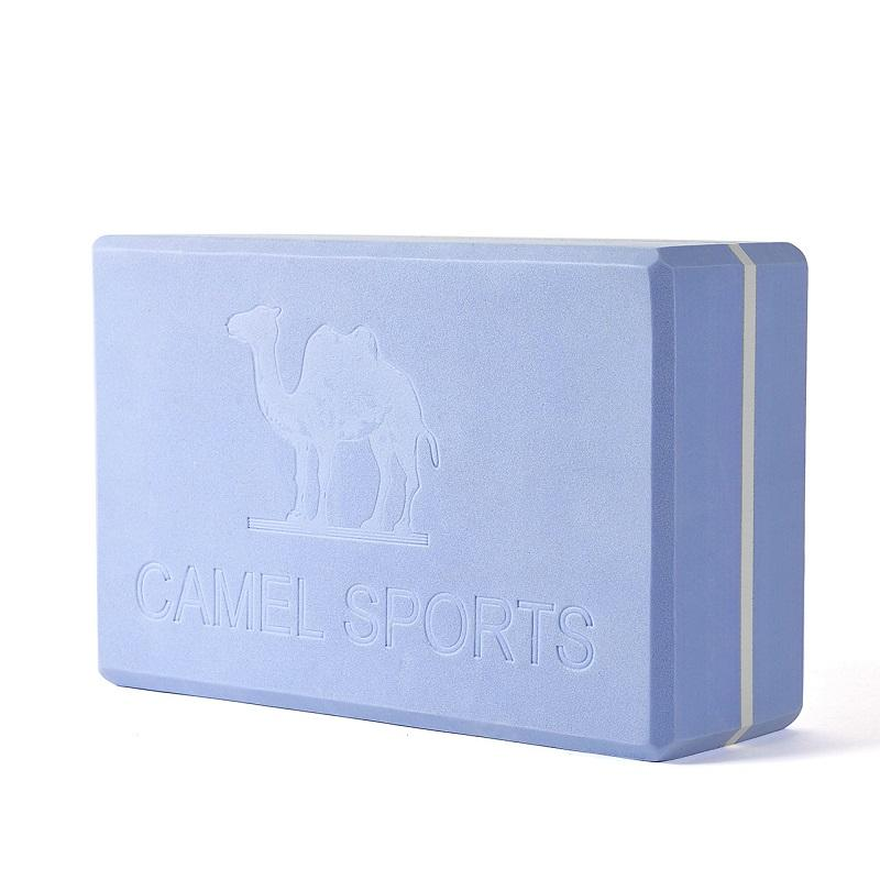 Three Layers Colorblock Yoga Brick High Density Yoga Block - CAMEL