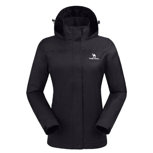 Women's Waterproof Windproof Rain Jacket - CAMEL CROWN