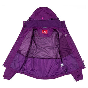 Women's Windproof Rain Jacket - CAMEL