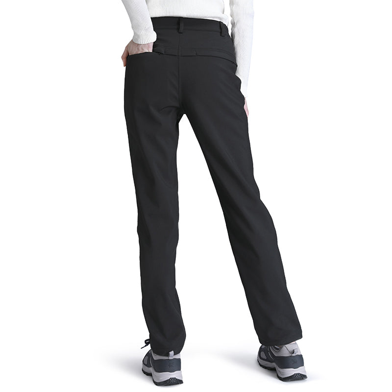 Women Soft Shell Fleece Pants - CAMEL