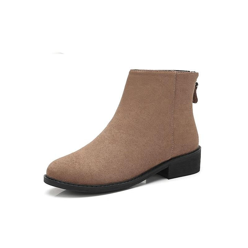 Women Classic Fur Lined Chelsea Boots - CAMEL