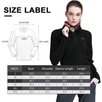 Women's Half Zip Fleece Jacket - CAMEL