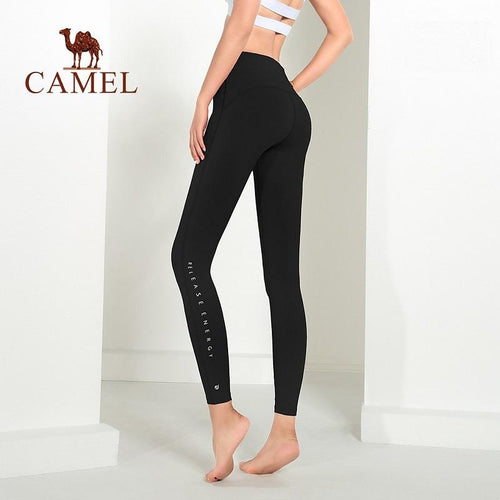 Women's High-Waist Butt-Lifting Leggings For Yoga Black - CAMEL