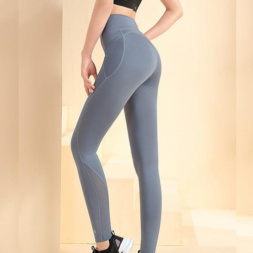 Women's High-Waist Butt-Lifting Leggings With Pockets For Pilate Yoga - CAMEL