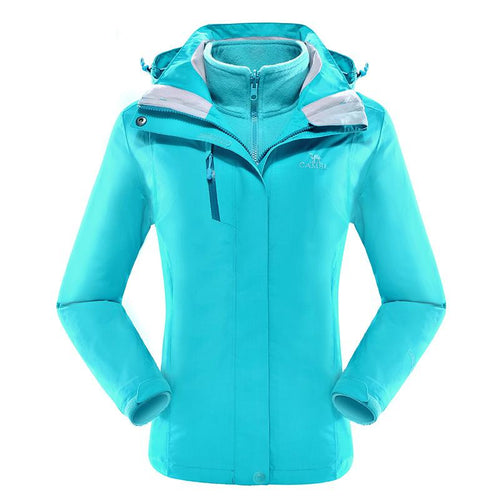 Women's 3 in 1 Waterproof Breathable Jacket - CAMEL