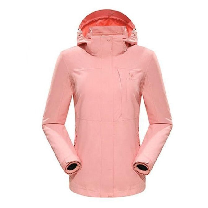 Women's 3 in 1 Waterproof Windproof Jacket - CAMEL