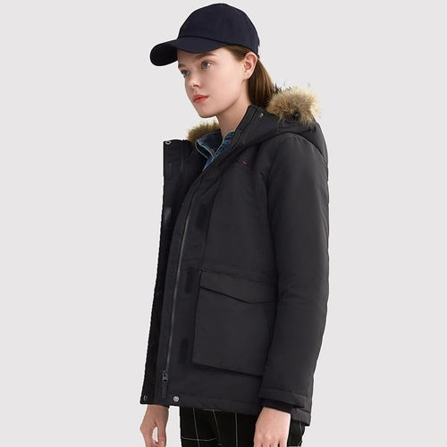 Women's Fashion Duck Down Warm Jacket - CAMEL