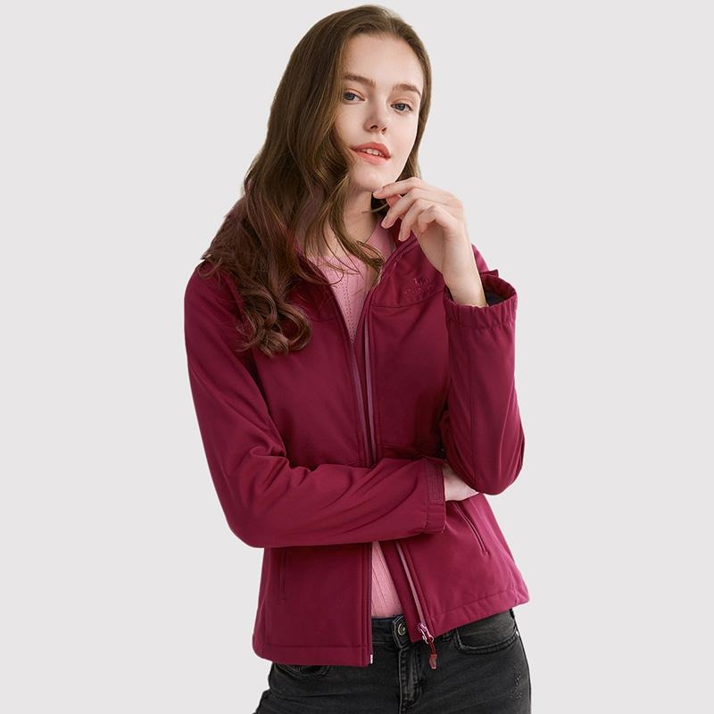 Women's Lightweight Breathable Softshell Jacket - CAMEL