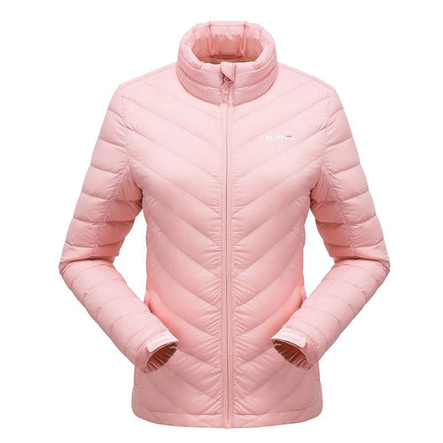 Women's Ultra Lightweight Down Jacket - CAMEL