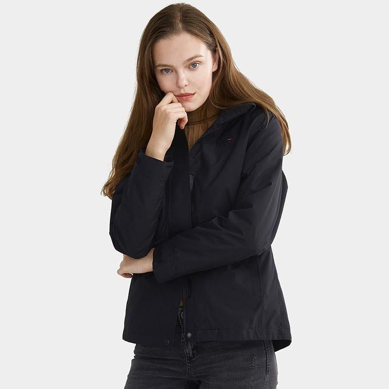 Women's Windproof Breathable 3-in-1 Down Interchange Jacket - CAMEL