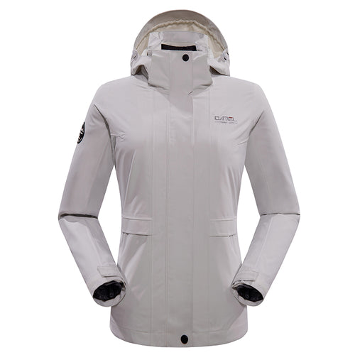 Women's Windproof Breathable 3-in-1 Down Interchange Jacket