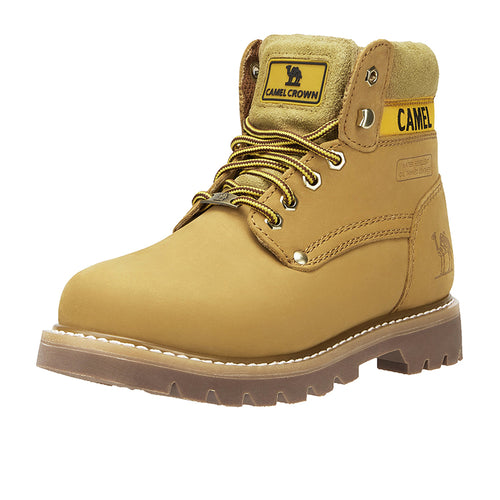 Women High Top Work Boots - CAMEL CROWN