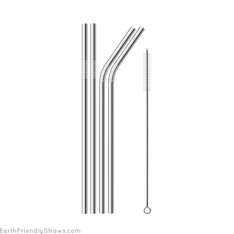 Silver Straws - 4 Pack