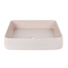 KILN 515-RECTANGULAR HAND BASIN/ROSE QUARTZ