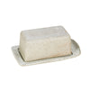 BUTTER DISH-WHITE GARDEN TO TABLE