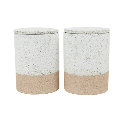 CANISTERS SET OF 2 - WHITE GARDEN TO TABLE