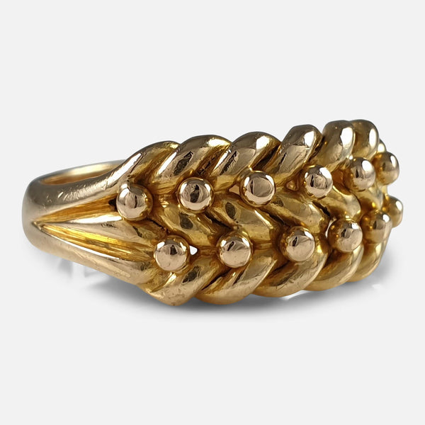 18ct Yellow Gold and Keeper Ring, Birmingham, 1905