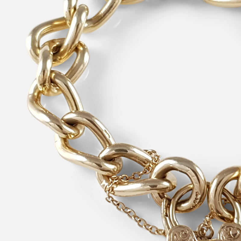 9ct Yellow Gold Curb Link Bracelet 58.2 grams - Argentum Antiques & Collectables