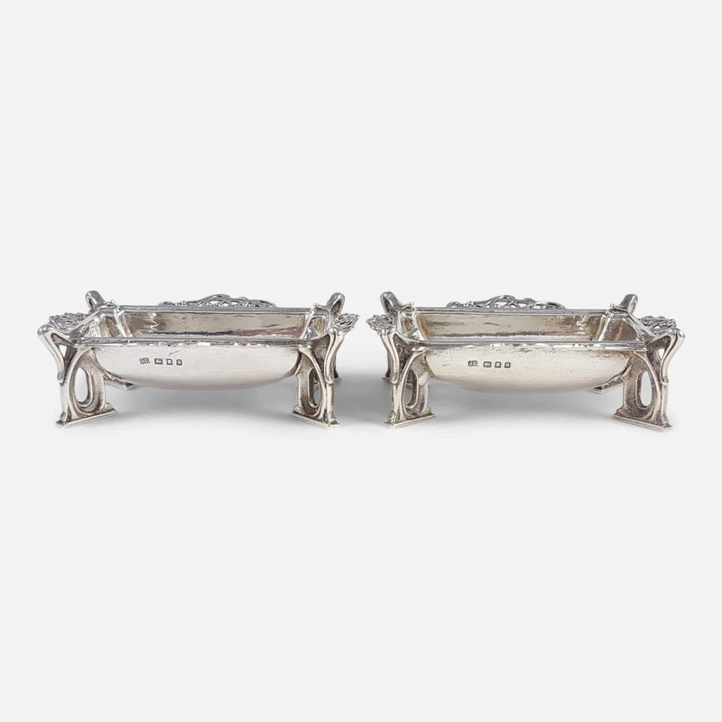 A Pair Of Omar Ramsden Arts & Crafts Sterling Silver Dishes - Argentum Antiques & Collectables
