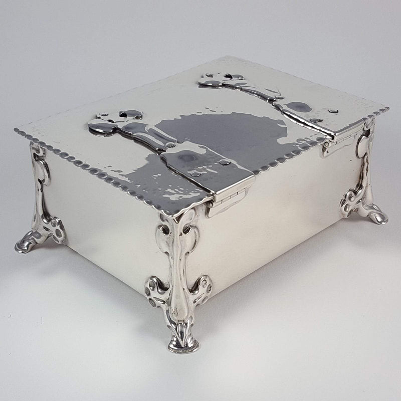 Silver Arts & Crafts Casket Box William Hutton & Sons 1902 - Argentum Antiques & Collectables
