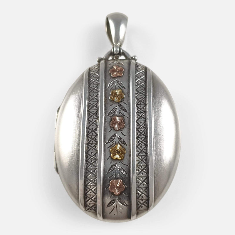 Victorian Sterling Silver Locket, Birmingham 1881 - Argentum Antiques & Collectables