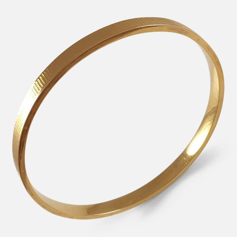 Art Deco 15ct Gold Bangle from above