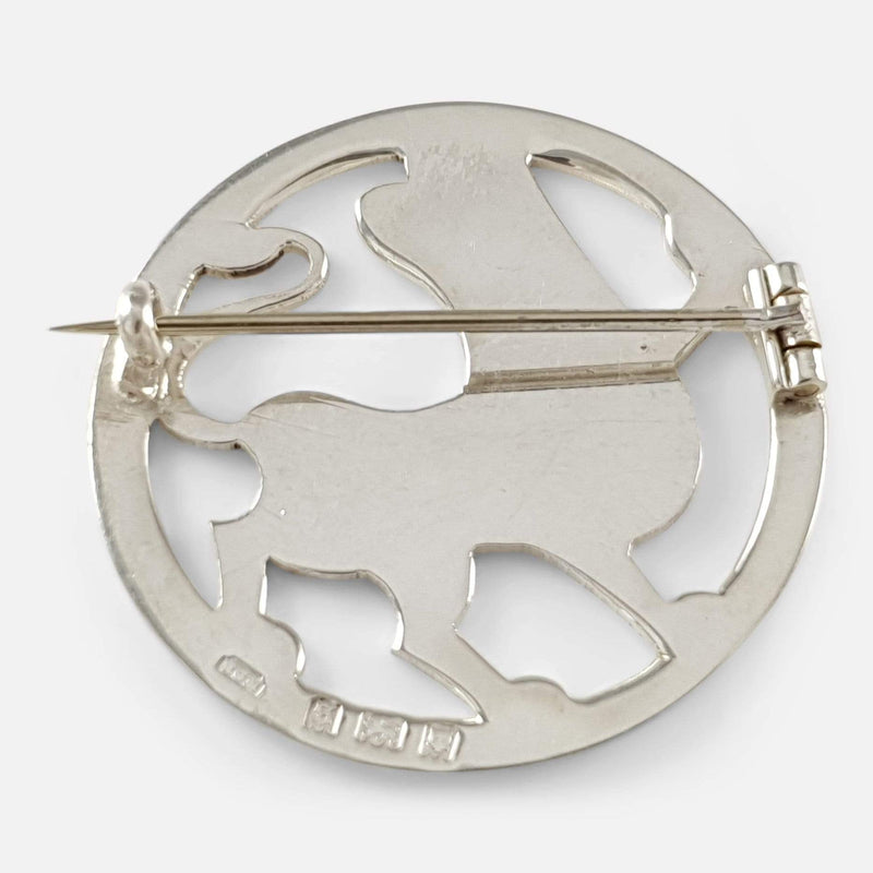 Art Deco Sterling Silver Lion Brooch H.G. Murphy 1933 - Argentum Antiques & Collectables
