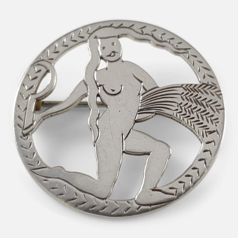 Silver Brooch viewed from the front